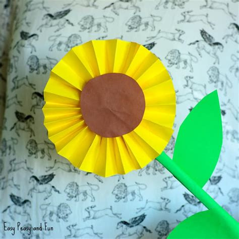 Simple Paper Crafts For - sunflower paper craft idea easy peasy and