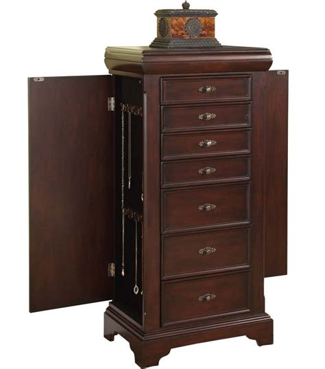 lock jewelry armoire locking jewelry armoire in jewelry armoires