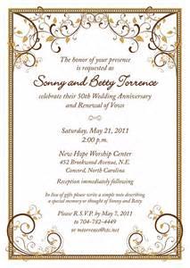 invitation wordings for 50th wedding anniversary 50th wedding anniversary on behance