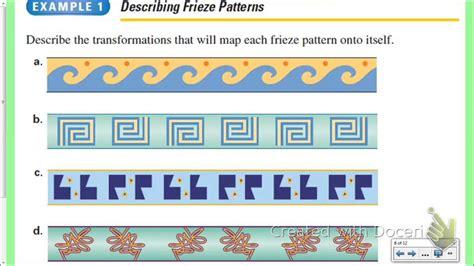 frieze pattern definition geometry geometry glide reflections and frieze patterns youtube