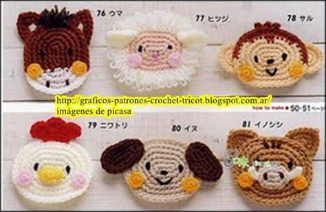 aplicaciones croc het amigurumis tejidos a crochet ganchillo patrones caritas de