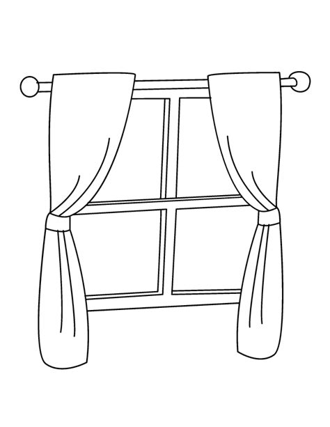 Coloring Page For Window | window coloring page coloring home