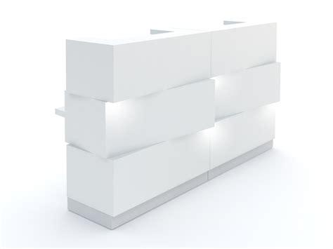 lada architetto banco per reception con illuminazione zen mdd
