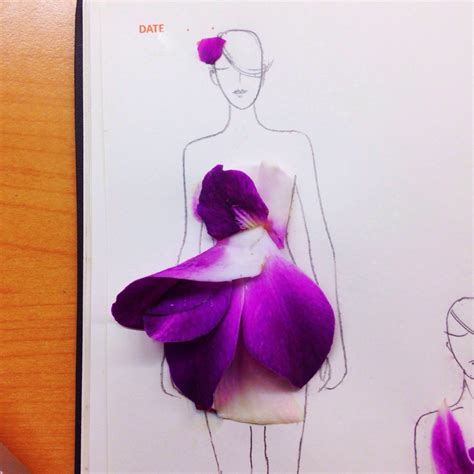 fashion illustration using flowers creative fashionary sketches by grace ciao grace