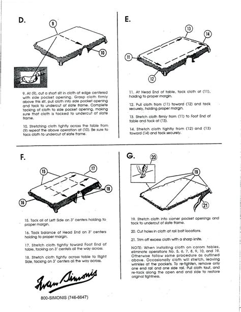 pool table parts diagram simonis installation diagrams pdf format pool