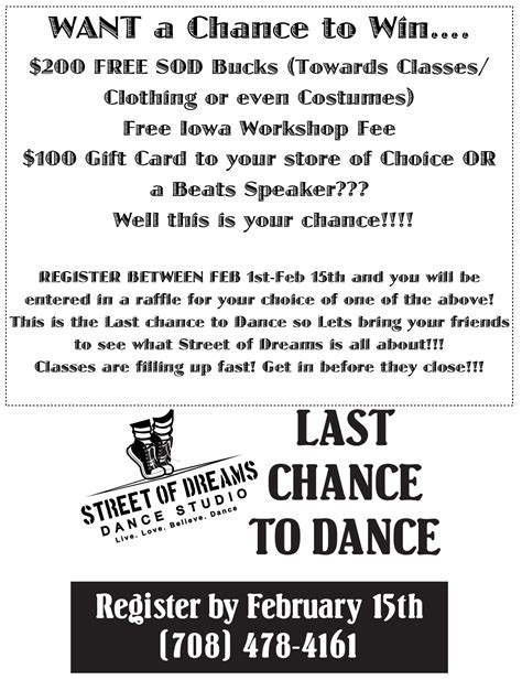Chances To Win Money - chance to win free street of dreams costumes cash sod