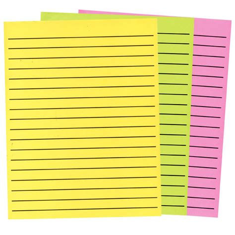 thick writing paper maxiaids thick line paper in neon colors 3 pad set 1