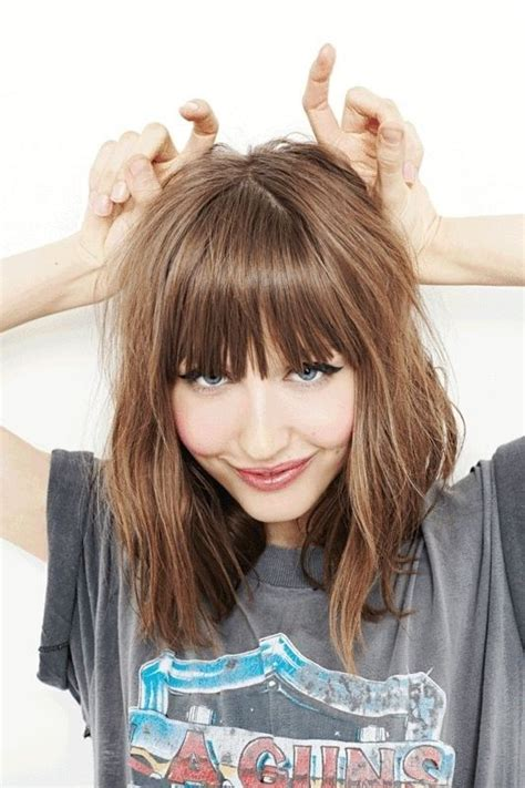 lob hairstyles with fringe 32 pretty medium length hairstyles 2017 hottest shoulder