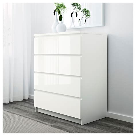 malm kommode 5 schubladen malm chest of 4 drawers white high gloss 80x100 cm ikea