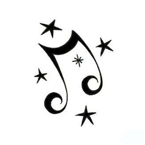 music notes with stars tattoo designs clipart best