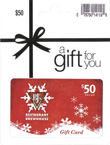50 bj s restaurant holiday gift card lightning deal - Bj S Gift Card Deals