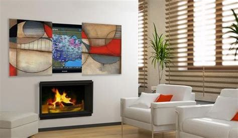 fireplace on tv screen flat screen tv fireplace designs to hide or not