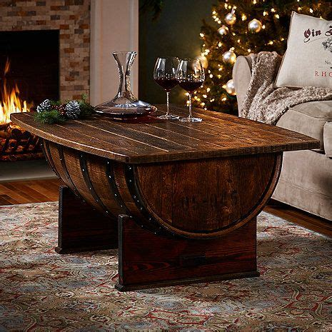 25 best ideas about whiskey barrel table on