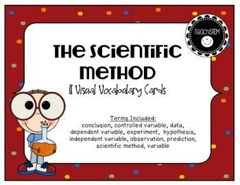 stem visual vocabulary cards  scientific method stem scientific method scientific