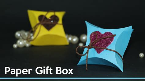 How To Make A Gift Box Out Of Paper - diy gift wrapping ideas how to make small gift box out