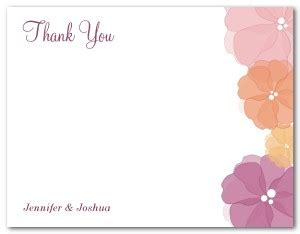 single thank you card blank template printable watercolor flower thank you card template