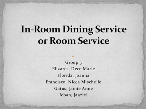 In Room Dining Server Description by In Room Dining Service Description 28 Images Server
