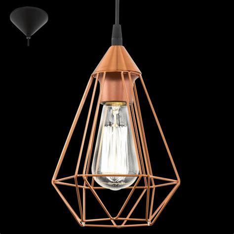 Eglo Pendant Light Eglo 94193 Tarbes 1 Light Ceiling Pendant Copper