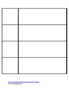 Visual Schedule Template By Speech By Schmitz Teachers Pay Teachers Visual Schedule Template