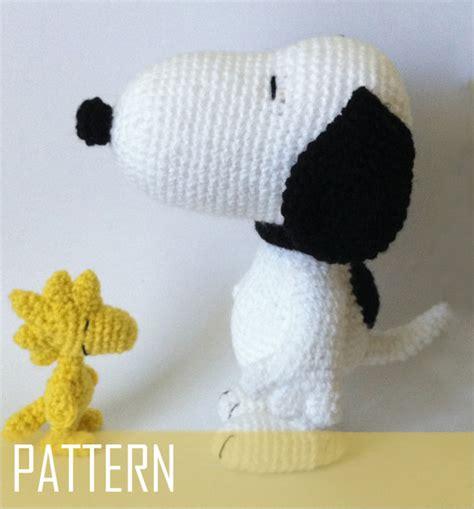 amigurumi snoopy pattern pdf crochet pattern snoopy and woodstock inspired amigurumi