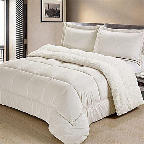 ivory twin comforter buy sherpa down alternative 2 piece twin comforter set in