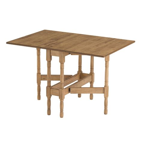 Drop Leaf Folding Dining Table Drop Leaf Table Heatproof Folding Dining Kitchen Gateleg Oak Rectangular Seats 6 Ebay