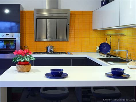 blue and yellow kitchen modern blue kitchen cabinets pictures design ideas