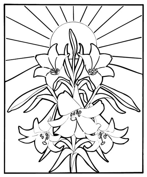easter colouring religious easter coloring picture
