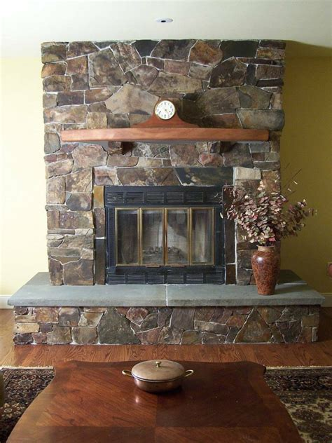 stone veneer fireplace  renovation midcityeast
