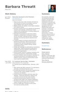assistant to the president resume sles visualcv