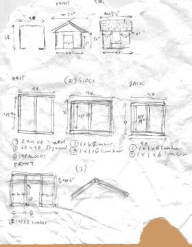 printable dog house plans doghouse construction guide rough plans