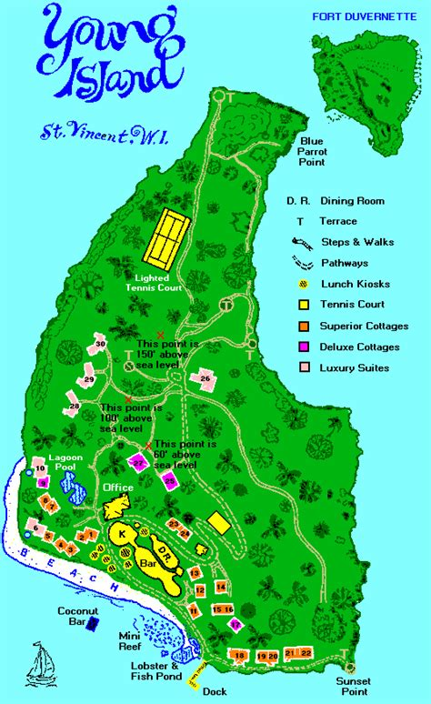 island resort map island map