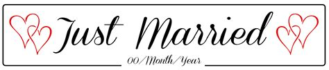 wedding banner png just married banner png transparent just married banner