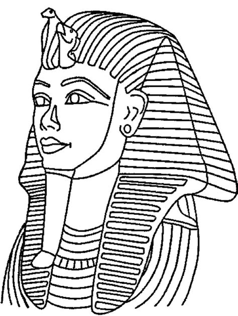 king tut death mask mummy coloring page free printable