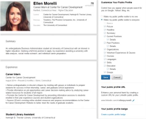 Resume Exle With Linkedin Url Five Elements You Probably Didn T About Linkedin Uconn Center For Career Development
