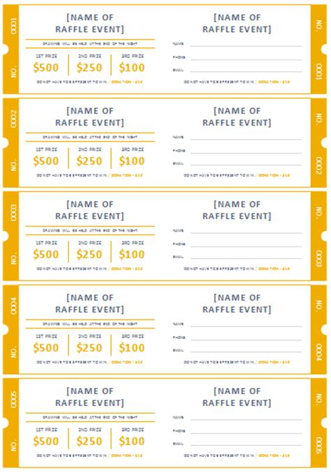 fundraising tickets templates for free free printable raffle ticket templates easter