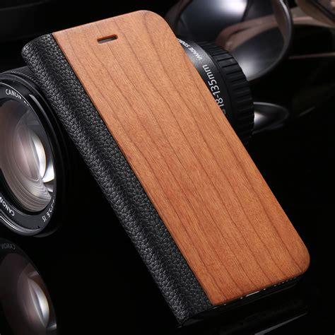 Iphone 7 Plus Luxury Simple Retro Litchi Leather Soft Casing aliexpress buy retro luxury leather bamboo wood