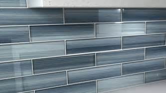 blue gentle grey 3x12 glass tile