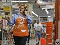 news business home depot hit by house slowdown