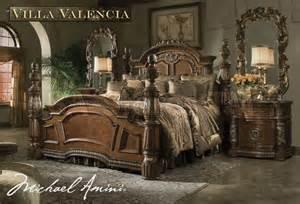 michael amini bedroom set quot michael amini quot classic chestnut bedroom set villa