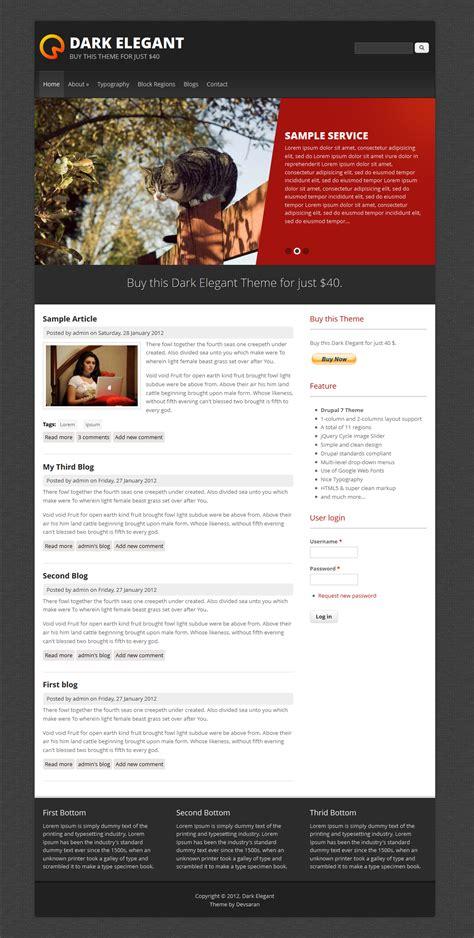 drupal theme kickstart dark elegant drupal org