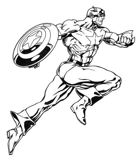 Coloring Book Marvel Super Heroes Heroes Color Pages