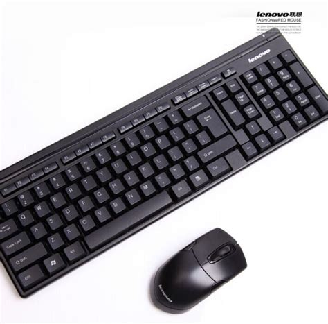 Keyboard Komputer Merk Lenovo lenovo km4905 wireless keyboard and optical mouse combo set for desktop pc in keyboards from