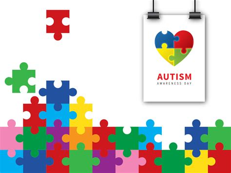 Autism Puzzle For Awareness Backgrounds For Powerpoint Templates Ppt Backgrounds Autism Powerpoint Template Free