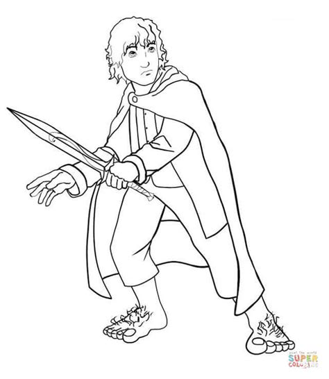 frodo coloring page free printable coloring pages