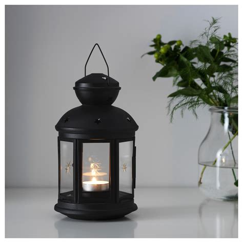 Outdoor Tea Light Holders Rotera Lantern For Tealight In Outdoor Black 21 Cm Ikea