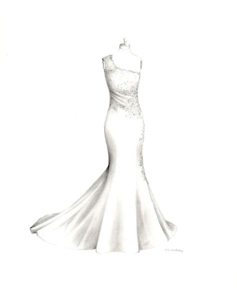 Brautkleider Zeichnen by For Custom Wedding Dress Drawing