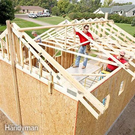 how to build a garage framing a garage the family handyman