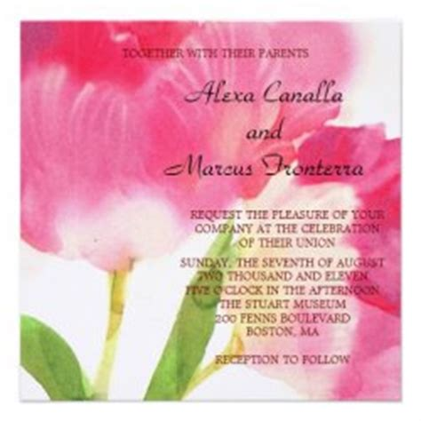 tulip wedding invitations wedding invitations wedding ideas lots