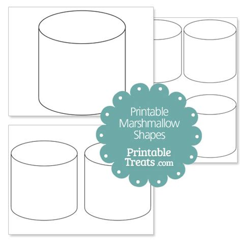 printable marshmallow shape template printable treats com
